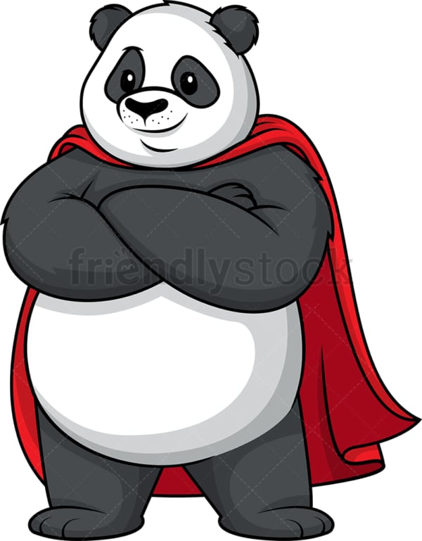Panda superhero. PNG - JPG and vector EPS (infinitely scalable).