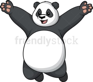 Happy panda. PNG - JPG and vector EPS (infinitely scalable).