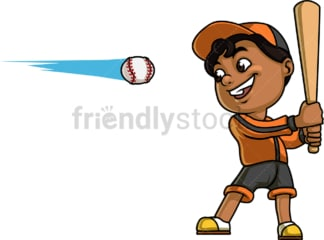 Little boy playing baseball. PNG - JPG and vector EPS (infinitely scalable). Image isolated on transparent background.