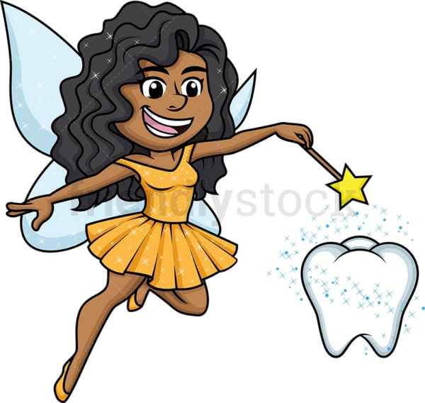 Black tooth fairy. PNG - JPG and vector EPS (infinitely scalable).