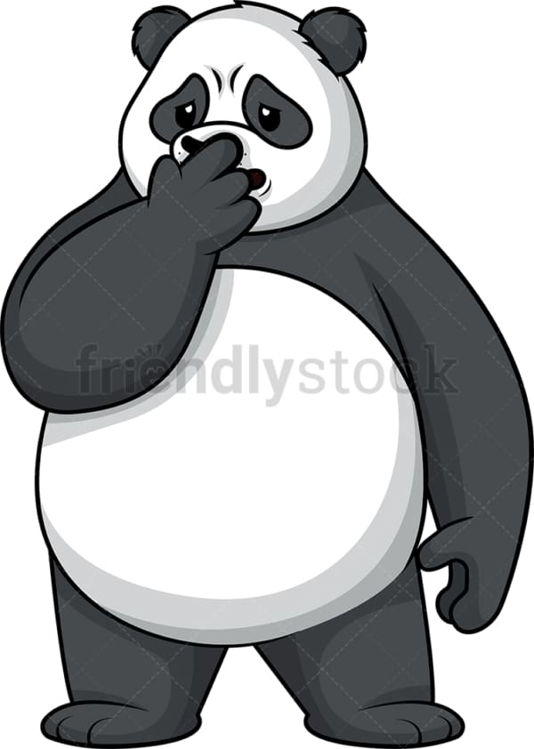 Disgusted panda. PNG - JPG and vector EPS (infinitely scalable).