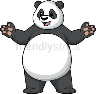 Happy panda with open arms. PNG - JPG and vector EPS (infinitely scalable).