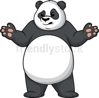 Panda shrugging. PNG - JPG and vector EPS (infinitely scalable).