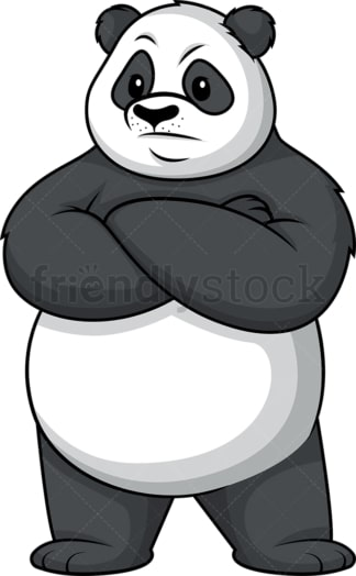 Mean panda. PNG - JPG and vector EPS (infinitely scalable).