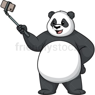 Panda taking a selfie. PNG - JPG and vector EPS (infinitely scalable).
