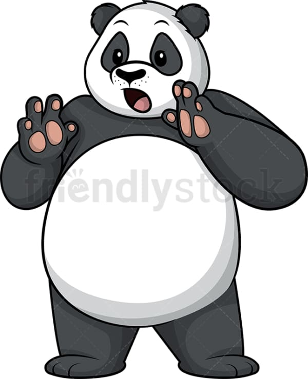 Surprised panda. PNG - JPG and vector EPS (infinitely scalable).