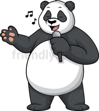 Panda singing. PNG - JPG and vector EPS (infinitely scalable).