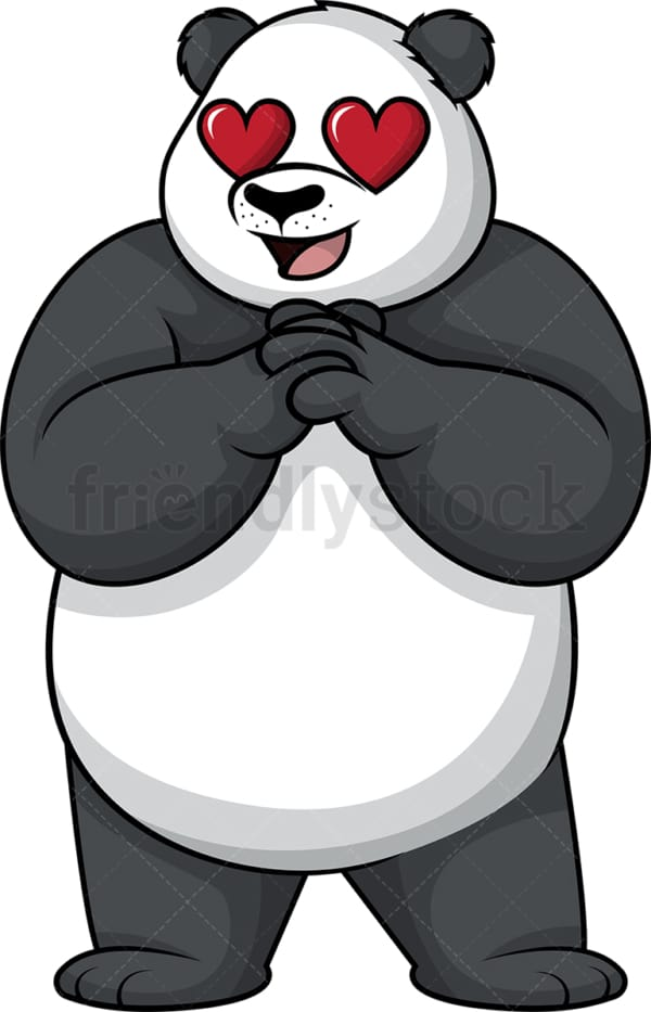 Panda in love. PNG - JPG and vector EPS (infinitely scalable).