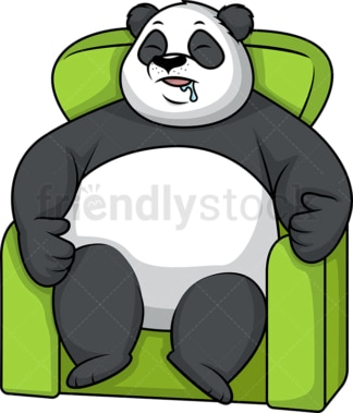 Lazy panda sleeping. PNG - JPG and vector EPS (infinitely scalable).