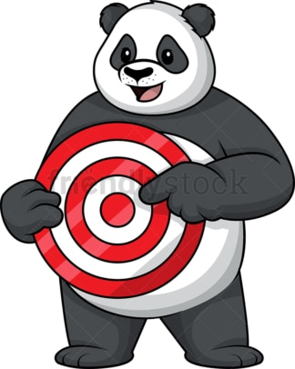Panda pointing at target. PNG - JPG and vector EPS (infinitely scalable).