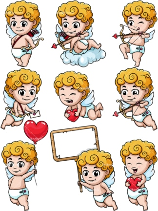 Cute cupid. PNG - JPG and vector EPS file formats (infinitely scalable).
