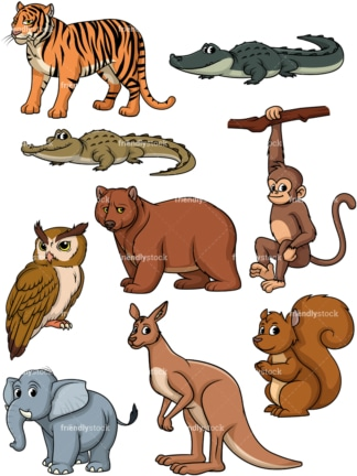 Wild animals 2. PNG - JPG and vector EPS file formats (infinitely scalable).