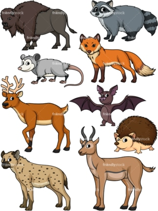 Wild animals 3. PNG - JPG and vector EPS file formats (infinitely scalable).