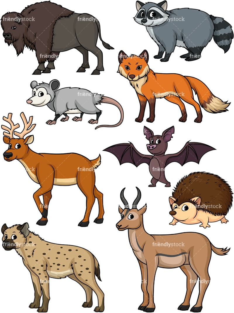 Wild Animals 3 Cartoon Vector Clipart - FriendlyStock