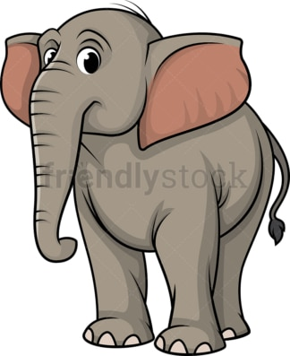 Curious elephant. PNG - JPG and vector EPS (infinitely scalable).