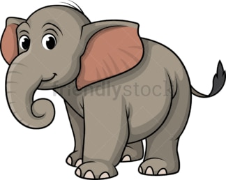 Cute wild elephant. PNG - JPG and vector EPS (infinitely scalable).