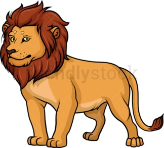 Noble lion. PNG - JPG and vector EPS (infinitely scalable).