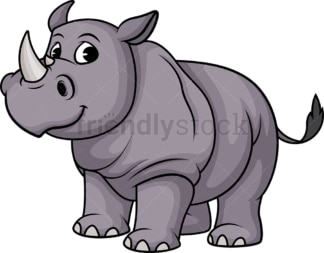 One horned rhino. PNG - JPG and vector EPS (infinitely scalable).