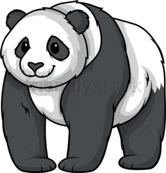 Panda bear standing. PNG - JPG and vector EPS (infinitely scalable).