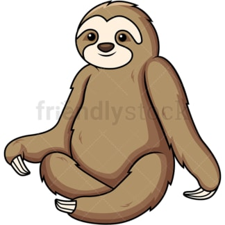 Sloth sitting down. PNG - JPG and vector EPS (infinitely scalable).