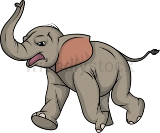 Angry elephant running. PNG - JPG and vector EPS (infinitely scalable).