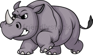 Charging rhino. PNG - JPG and vector EPS (infinitely scalable).