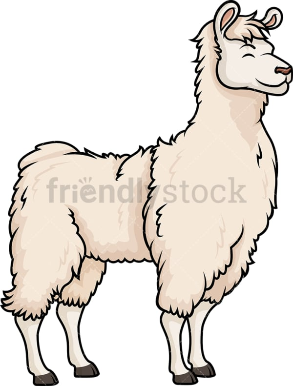 Happy llama. PNG - JPG and vector EPS (infinitely scalable).