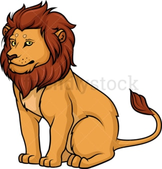 Lion sitting. PNG - JPG and vector EPS (infinitely scalable).