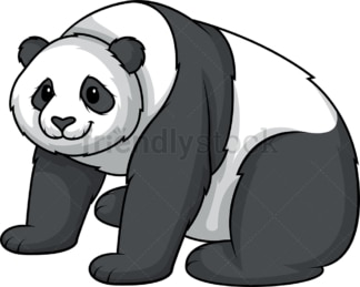 Panda bear sitting. PNG - JPG and vector EPS (infinitely scalable).