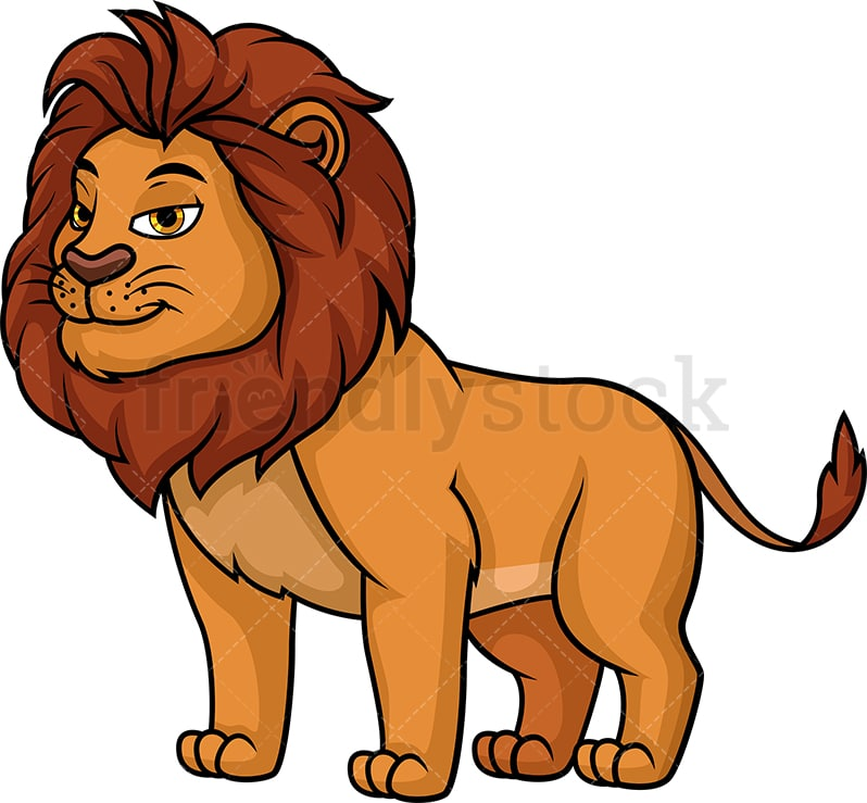 Wild Lion Cartoon Clipart Vector - FriendlyStock (798 x 739 Pixel)