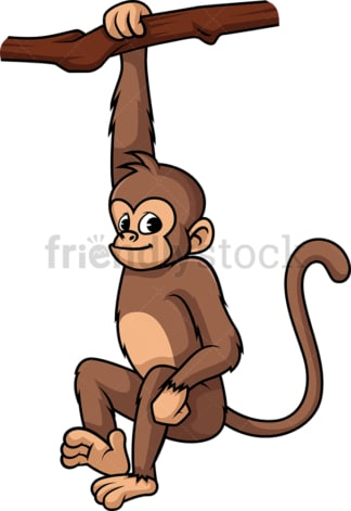 Wild monkey. PNG - JPG and vector EPS (infinitely scalable).