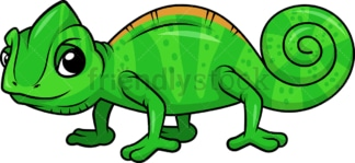 Cute chameleon. PNG - JPG and vector EPS (infinitely scalable).