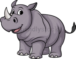 Happy rhino. PNG - JPG and vector EPS (infinitely scalable).