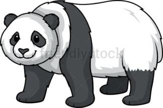 Panda bear. PNG - JPG and vector EPS (infinitely scalable).