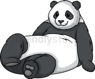 Panda bear lying down. PNG - JPG and vector EPS (infinitely scalable).