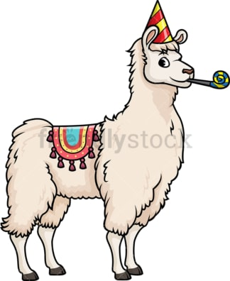 Party llama. PNG - JPG and vector EPS (infinitely scalable).