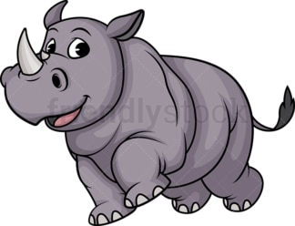 Running rhino. PNG - JPG and vector EPS (infinitely scalable).