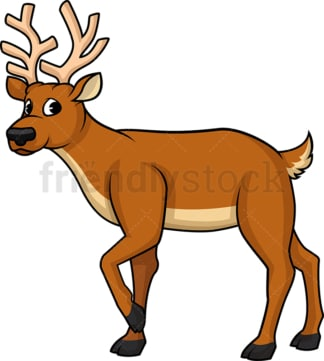 Wild reindeer. PNG - JPG and vector EPS (infinitely scalable).