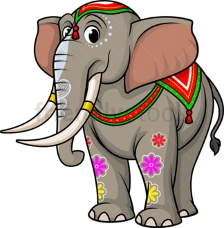 Hindu elephant. PNG - JPG and vector EPS (infinitely scalable).