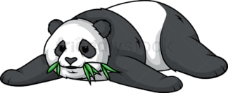 Lazy panda bear. PNG - JPG and vector EPS (infinitely scalable).