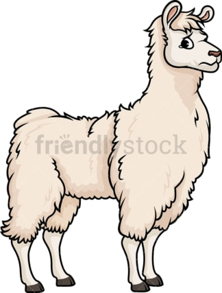 Sad llama. PNG - JPG and vector EPS (infinitely scalable).