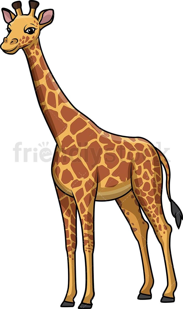 Wild Giraffe Cartoon Clipart Vector - FriendlyStock