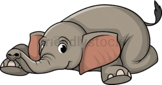 Elephant lying down. PNG - JPG and vector EPS (infinitely scalable).