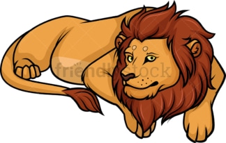 Lion lying down. PNG - JPG and vector EPS (infinitely scalable).
