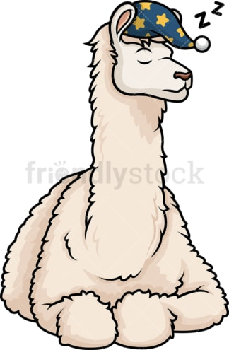 Llama sleeping. PNG - JPG and vector EPS (infinitely scalable).
