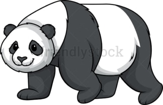Panda bear running. PNG - JPG and vector EPS (infinitely scalable).