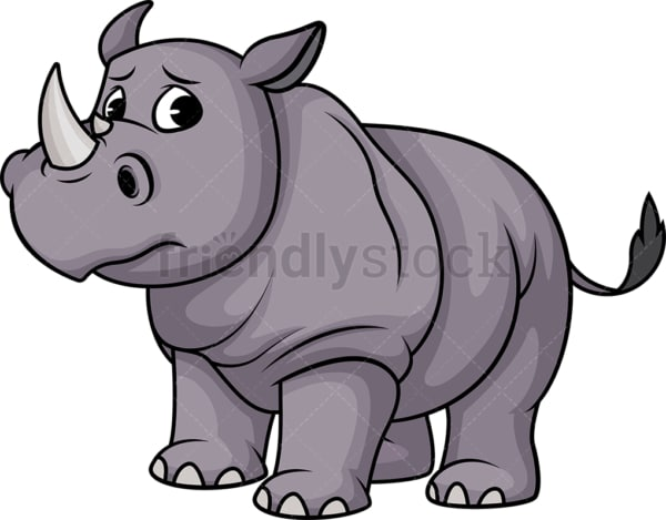 Sad rhino. PNG - JPG and vector EPS (infinitely scalable).