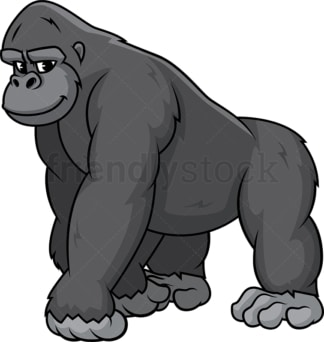 Wild gorilla. PNG - JPG and vector EPS (infinitely scalable).