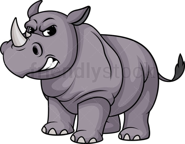Angry rhino. PNG - JPG and vector EPS (infinitely scalable).