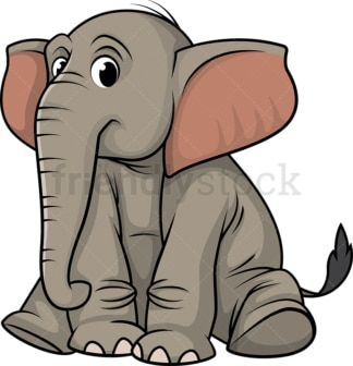 Elephant sitting. PNG - JPG and vector EPS (infinitely scalable).
